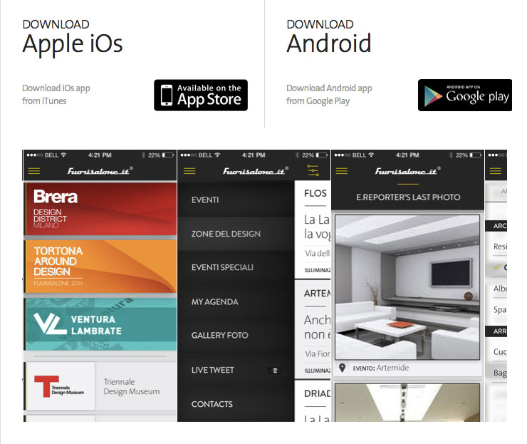 Fuorisalone-applications